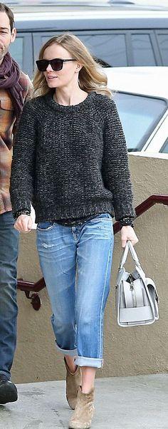 knit sweater + boyfriend jeans = :)