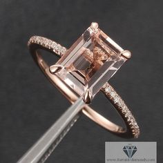 Engagement rings under $700! Beautiful rose gold, diamonds, and champagne pink morganite.  Rose gold and inexpensive. Lovely!