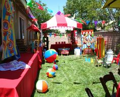 carnival birthday pary   Circus Carnival / Birthday / Party Photo: Carnival Game area