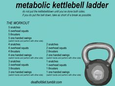 No time to workout? That's no longer an excuse! You can perform a kickass fat burning, muscle building kettlebell workout at home in under 10 minutes. Studies show that High Intensity Interval Training (Hiit), like this kettlebell ladder are extremely eff Kettlebell Training, Kettlebell Challenge, Kettlebell Circuit, Kettlebell Quotes, Kettlebell Benefits, Muscle Training, Tabata, Muscle Fitness, Gain Muscle