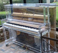 Transparent Upright Piano Piano Lamps, Piano Art, Piano Music, High Ceiling Lighting, Piano Restoration, Piano Photography, Piano Pictures, Painted Pianos, Instruments