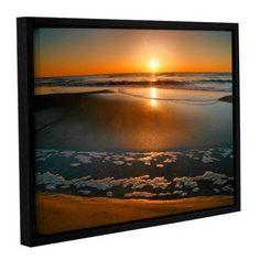 ArtWall Steve Ainsworth Morning Has Broken Gallery-Wrapped Floater-Framed Canvas, Size: 18 x 24, Orange