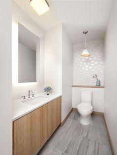 Contemporary modern powder room