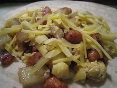 """Homemade Freezer Meals: The Breakfast Burrito - from """"frugallysustainable.com"""". I want to do this - with only eggs, of course - NO MEAT - maybe I could put some tofu in?"""