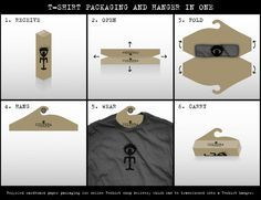 T-Shirt #packaging. Cool and clever PD