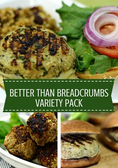 We've combined the nutritional power of fine bulgur with tasty, salt-free spices to create a collection of Better than Breadcrumbs. Keep your meatballs, meatloaves, and burgers moist and boost their nutritional value with all 6 varieties.