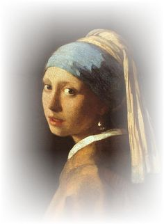 The Girl with a Pearl Earring by Johannes Vermeer (the portrait and the book!)