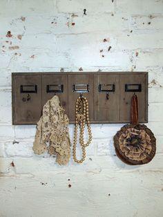 Painted Cottage Chic Shabby Barnwood Hotel Key Holder VF266. $26.00, via Etsy.