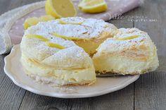 MILLEFOGLIE CON CREMA AL LIMONE ricetta dolce cremoso e facile, ricetta dolce al limone con la pasta sfoglia, veloce , economica e cremosa