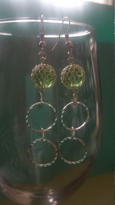 Hey, I found this really awesome Etsy listing at https://www.etsy.com/listing/248012665/green-mesh-glass-beaded-earing