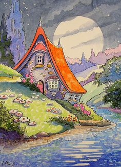 Under a Summer Moon Storybook Cottage Series | Flickr - Photo Sharing!