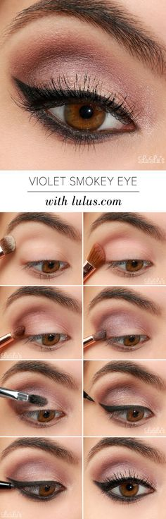 LuLu*s How-To: Violet Smokey Eye Makeup Tutorial: