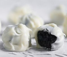 Oreo Truffles! Made these last year and they were fantastic but instead of white chocolate I used mint chocolate and they tasted just like Thin Mints!