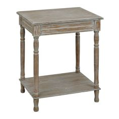 Weathered Ash Accent Table | Kirklands