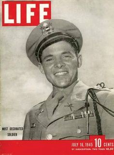 Audie Murphy, the most decorated soldier of WWII. http://www.biography.com/people/audie-murphy-9418662