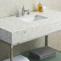 Ariel Seacliff Brightwater 48 in. Vanity Sink, Single Bathroom Vanity, Countertops, Kitchen Decor Themes, Bathroom Countertops, Bathroom Vanity, Bathroom, Granite Countertops Colors, Sink