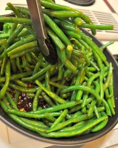 honey balsamic green beans ~m