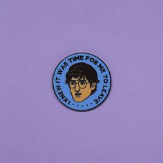 Louis Theroux hard enamel pin /// lapel button badge British