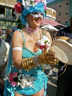 Miss Jessica, Leading the  Mardi Gras 2012 Parade on Ocean Front Walk Venice Beach Events, Venice CA