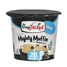 Muffin med høyt proteininnhold og tilsatte prebiotika - ferdig på 20 sekunder i mikrobølgeovnen!