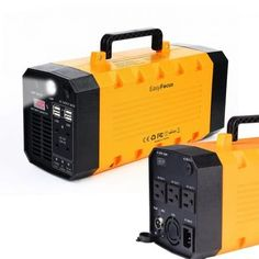 """Features & Benefits"" Backup Portable Generator Solar Power Source Power Inverter UPS Li-on Battery Power Supply Powerhouse Charged by Solar/AC Outlet/Cars with 3 AC & 4 DC & 4 USB Ports Solar Power Energy, Solar Energy System, Solar Energy Panels, Best Solar Panels, Solar Generator, Portable Generator, Industrial, Solar Charger, Panel Systems"