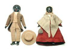 Quaker dolls, c1840