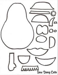 Mr Potato Head templates for felt cutouts! I think I'll make mine foam, and use as a motivational visual!