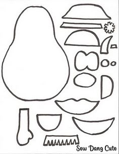 Mr Potato Head templates for felt cutouts