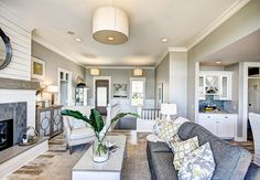 Ranch-Style Home with Transitional Coastal Interiors - Home Bunch - An Interior Design & Luxury Homes Blog