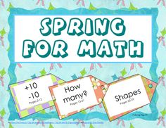 Spring for Math common core K and 1, free, 40 page printable