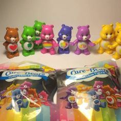 "Care Bear collectible figures from Just Play's Care Bears blind bags! Available at Walmart, Target & Toys""R""Us!"