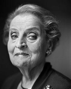 Madeleine Albright (born Marie Jana Korbel, 1937) - Czech-born American politician and diplomat. Photo ©  Stephan Vanfleteren