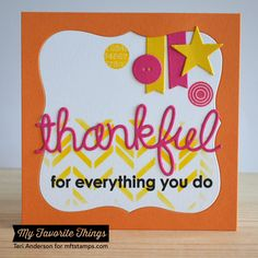 Out on a Limb, Thankful Thoughts, Blueprints 19 Die-namics, Words of Gratitude Die-namics, Scattered Bars Stencil - Teri Anderson #mftstamps