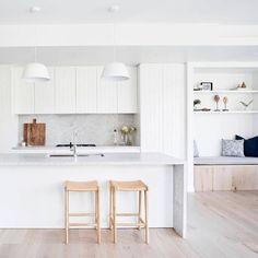 from - A light, bright soothing pallet for this devel. - Surrounding Australia - from – A light, bright soothing pallet for this development. Kitchen Chairs, Home Decor Kitchen, Home Kitchens, Home Design, Küchen Design, Design Ideas, Interior Desing, Interior Design Kitchen, Interior Livingroom