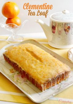 Enjoy the sweet, juicy clementine baked as an easy, glazed quick bread - Clementine Tea Loaf is bright with sunshine flavor! Tea Recipes, Sweet Recipes, Cake Recipes, Dessert Recipes, Satsuma Recipes, Recipies, Healthy Recipes, Clementine Recipes, Clementine Cake