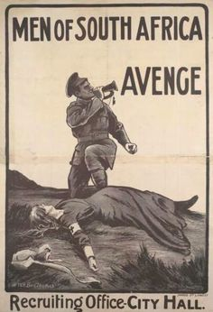 """""""Men of South Africa - Avenge"""", Allied anti-German propaganda evoking the execution of Red Cross nurse Edith Cavell by German firing squad, 1915 Edith Cavell was a British Red Cross nurse in WWI. World War One, First World, Edith Cavell, Ww2 Posters, Red Cross, World History, Wwi, Vintage Posters, South Africa"""