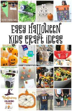 Easy Halloween Kids Craft Ideas - Coral + Co.Halloween kid crafts are so much fun! One of my favorite things about holidays is all the fun themed kids crafts. Whether it's making something for my Halloween Class Party, Halloween Crafts For Kids, Crafts For Kids To Make, Easy Halloween, Fall Crafts, Holidays Halloween, Halloween Decorations, Holiday Crafts, Kids Crafts