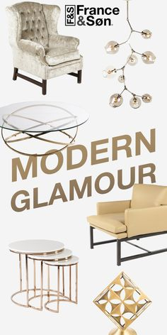A collection of Modern Glamour...the products in the collection are finished with brilliant gold. The stand out with a regal vibe! http://www.franceandson.com/collections/bold-and-gold.html