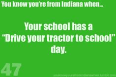 With at least 5 tractors at school that day