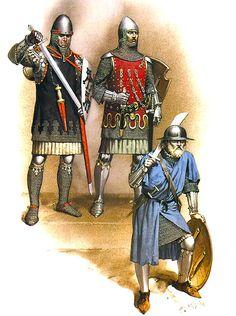 Germans: • Albrecht von Hohenlohe, c. 1325  • Otto von Orlamünde, c. 1340  • Infantryman, mid-14th C