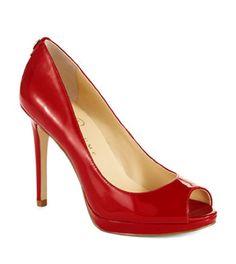 IVANKA TRUMP Maggie Heels #redheels #peeptoe #pumps #red #heels #style #fashion
