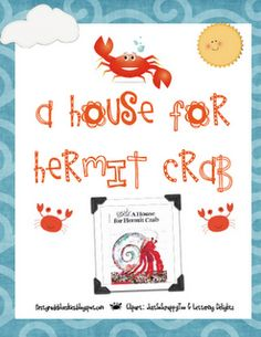 First Grade Blue Skies: A House for Hermit Crab and Freebie Reading Response Activities, First Grade Activities, Summer Preschool Themes, Summer Themes, Ocean Activities, Summer Activities, Book Activities, Preschool Activities, Ocean Lesson Plans