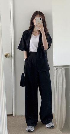 g e o r g i a n a - Trend Beaded Jewelry 2020 Swaggy Outfits, Cute Casual Outfits, Stylish Outfits, Casual Korean Outfits, Formal Outfits, Black Outfits, Simple Outfits, Kpop Fashion Outfits, Mode Outfits