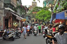 French Quarter in Hanoi Vietnam