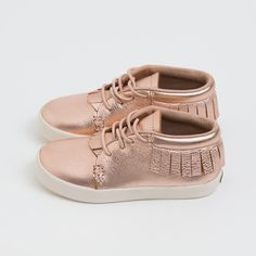 Rose Gold Next Step Sneakers | Freshly Picked