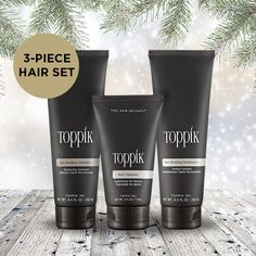 Receive a FREE HAIR CARE GIFT SET* ($50 value) when you shop at Toppik.com on Black Friday! Makes for great stocking stuffers or a treat for yourself this holiday season. *Minimum purchase required. Shop Now: http://www.toppik.com/shop