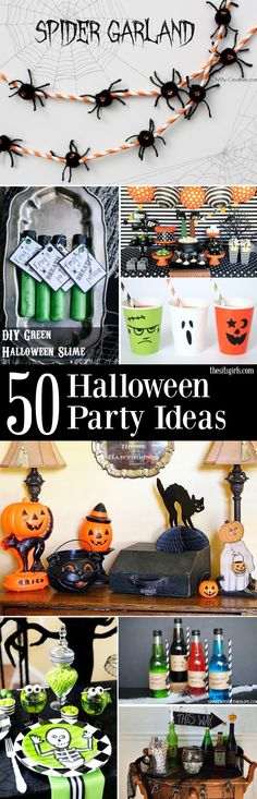 Hosting a Halloween party?! Here is a great collection of decor - fun halloween party ideas