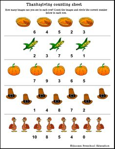math worksheet : free give thanks thanksgiving counting worksheet  live laugh i  : Thanksgiving Counting Worksheets Kindergarten