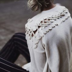 ALL IMAGES KELSEY CHERRY PHOTOGRAPHY HAND LACED CREWNECK | HI LO BUTTON CARDIGAN | COTTON D-RING TAB STRIPE CREWNECK Luxury, effortless, essential…three words that describe White + Warren per…