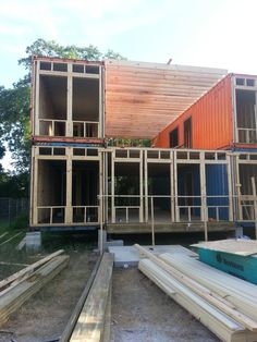 Front Before Facade - I built a shipping container home. Tiny house small cabin diy
